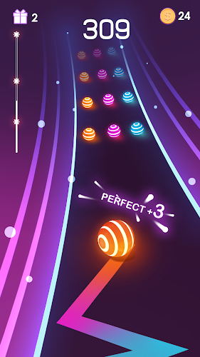 Dancing Road: Colour Ball Run! Android App Screenshot
