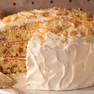 Coconut-Pecan Pudding Cake.