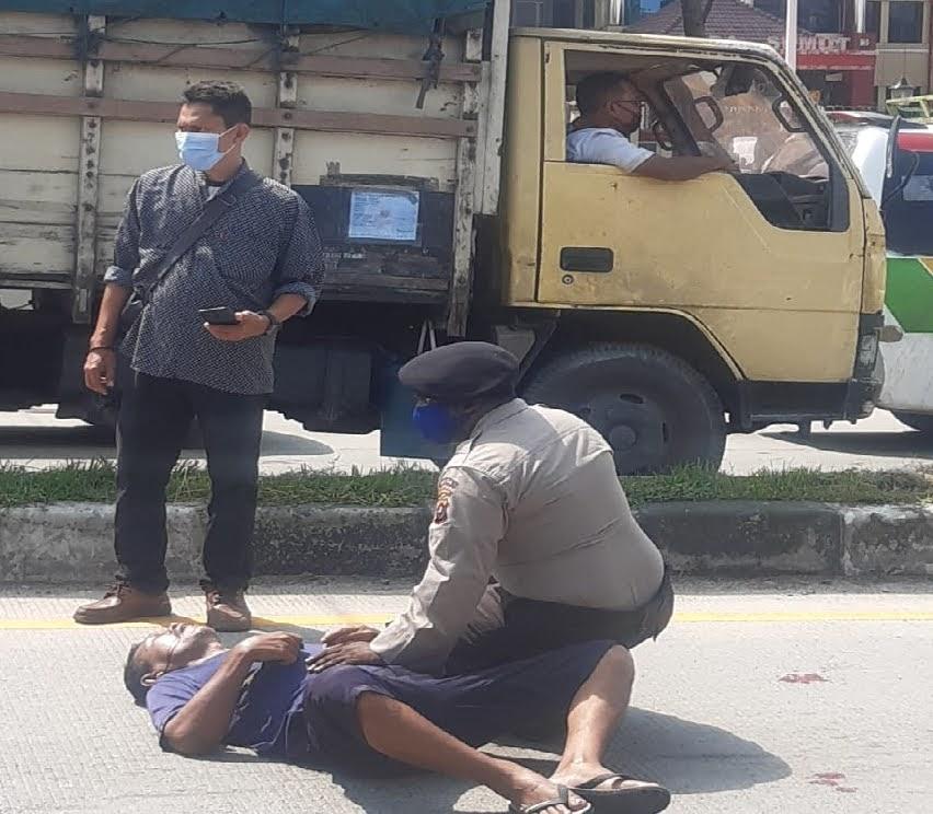 Mayat Pria Tergeletak di Pepan Polda Sumut, Kabid Humas Polda Sumut : Korban Sakit Paru – Paru.