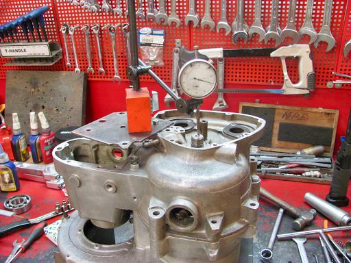 Calage latéral du vilebrequin effectué par Machines et Moteurs