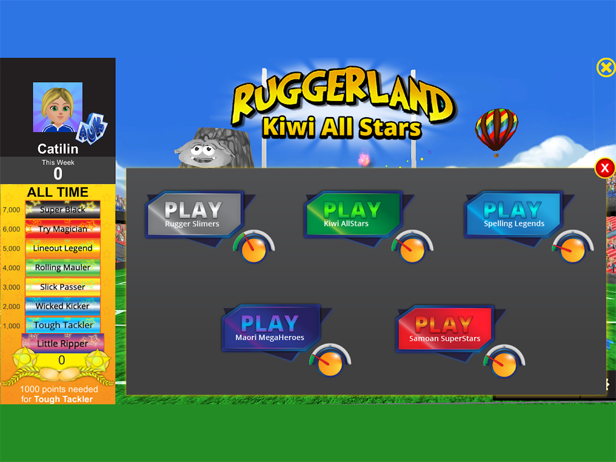 Ruggerland Kiwi All Stars- screenshot