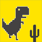 Dino Run Offline Chrome Game for Lollipop - Android 5.0
