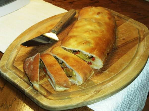 Ratatouille Stuffed Bread Recipe