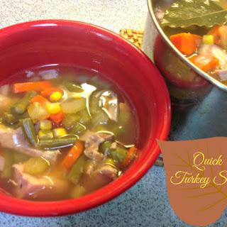 Quick Turkey Soup.
