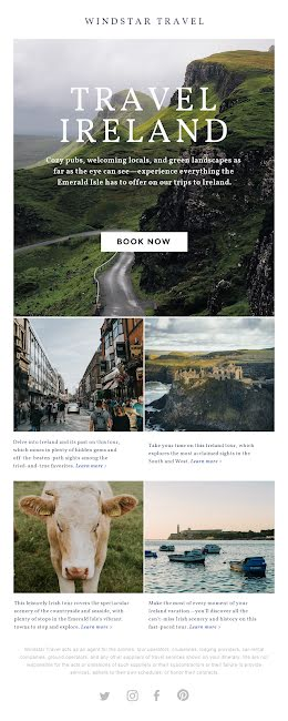 Travel Ireland - Long Email item