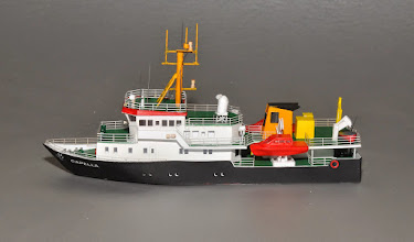 Photo: 145' German oceanographic research ship Capella, available as kit or built-up in N and Z scales (1:160 and 1:220). Z scale model shown.