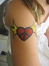 Photo: Heart body paint tattoo by Maria 888-750-7024 http://www.memorableevententertainment.com/FacePainting/MariaChino,Ca.aspx