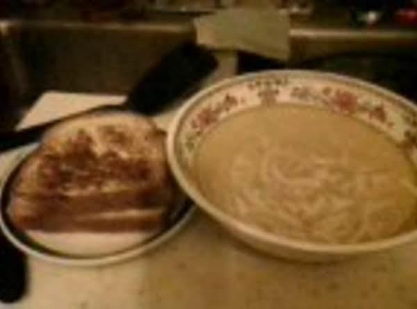 Grilled Cheese Sandwich & Chix Noodle Soup Recipe
