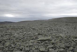 Kuva: Sitten olikin edessä päivän haastavampi osuus, askel kivelle, sauvoille sopiva paikka, askel kivelle ...