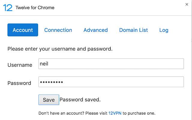 12VPN for Chrome chrome extension