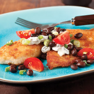 Breaded Tilapia with Black Bean Salsa