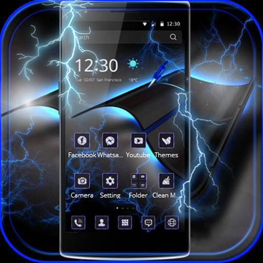 Blue Tech Theme Thunder Blitz
