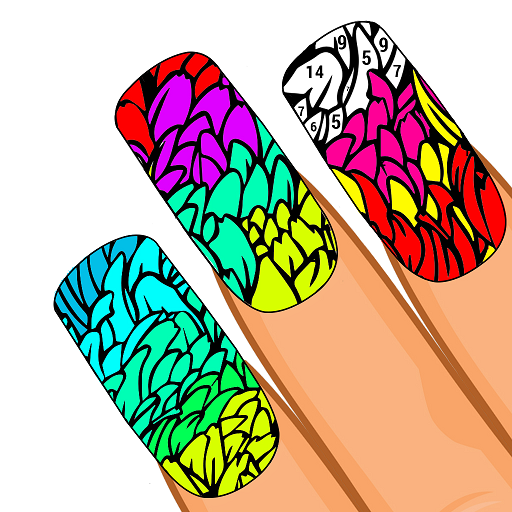 Nails Color by Number: Girls Fashion Coloring Book Icon