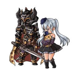 黒騎士&オルキス_初期状態