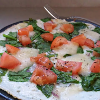 Egg White Frittata with Tomato, Spinach, and Havarti Cheese