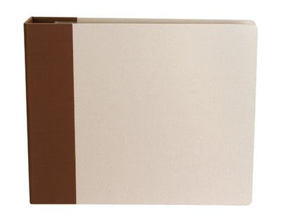 American Crafts Modern D-Ring Album 12X12 - Chestnut