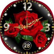 App Rose Wallpaper Real Time Clock APK for Kindle
