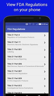 FDA Regulations- screenshot thumbnail