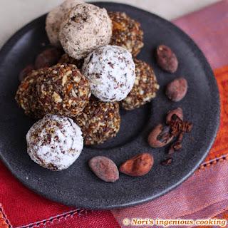 Raw Cocoa & Chia Seed Energy Balls