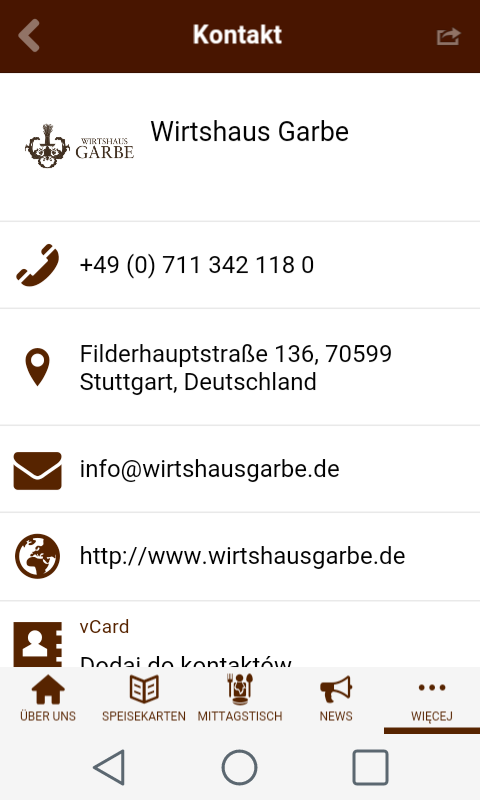 Wirtshaus Garbe- screenshot