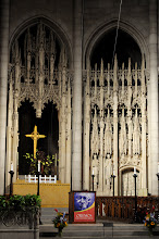 Photo: The stage is set at Riverside Church. If only they knew how many weapons Chávez has purchased in recent years...