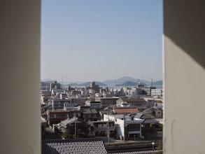 Photo: 今日通るしまなみ海道が見える。