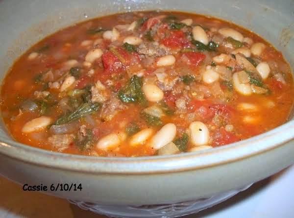 Kale & Spinach Bean Pot - Delish! Recipe