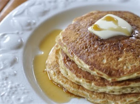 Oatmeal Pancakes with Blueberry Compote Recipe