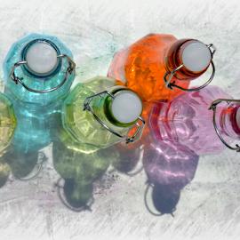 Bottle Tops by Melissa Davis - Digital Art Things ( bottled art, tops, missysphotography, colored bottles, bottle art )