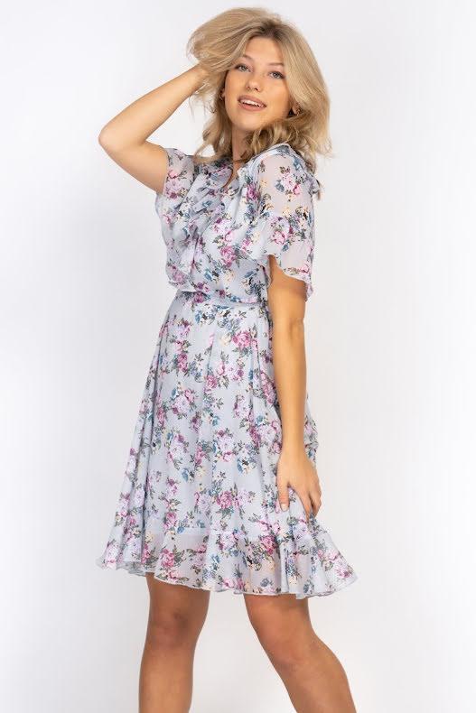 Violette Dress Dream blue/Lavender Rose blush