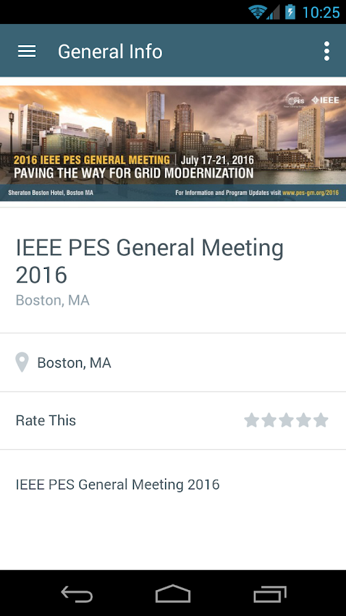 2016 IEEE PES General Meeting- screenshot