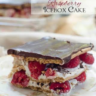 Dark Chocolate Raspberry Icebox Cake.