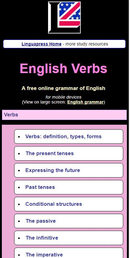English grammar guide with rules  and examples- screenshot