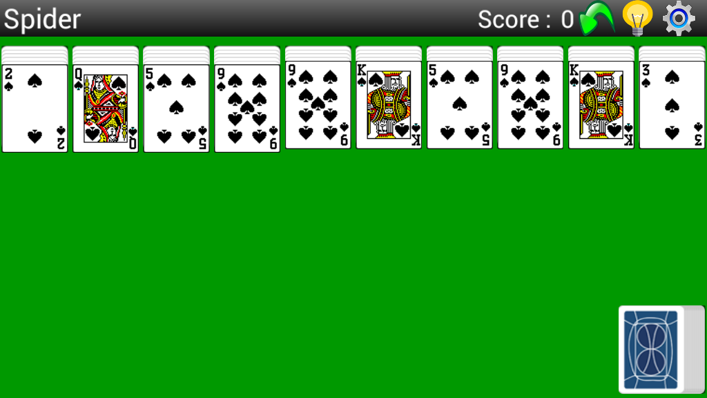 Best Spider Solitaire- screenshot