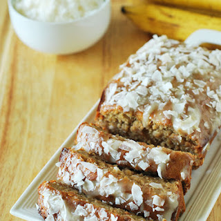Vegan Banana Bread With Coconut Frosting