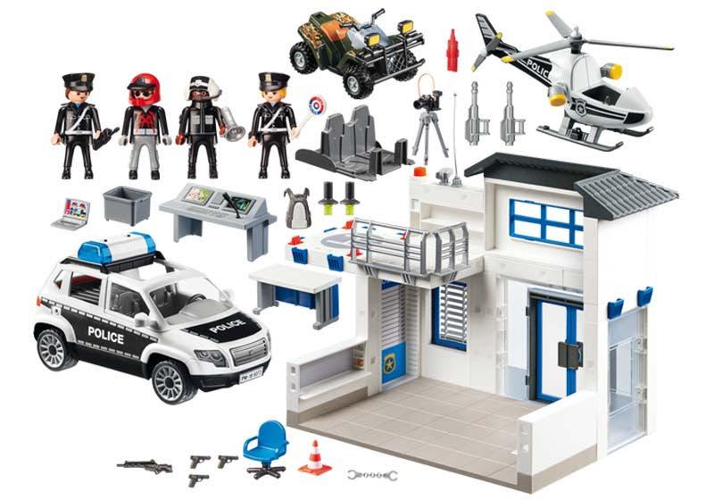 Contenido real de Playmobil® 9372 Mega Set de Policía