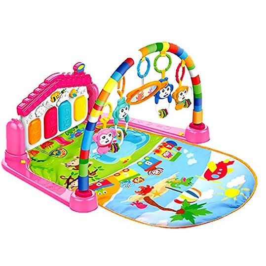 HUANGER Multi Function Piano Fitness Rack with Playing Toys Large Size