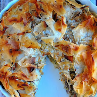 Chicken Filo Pie.