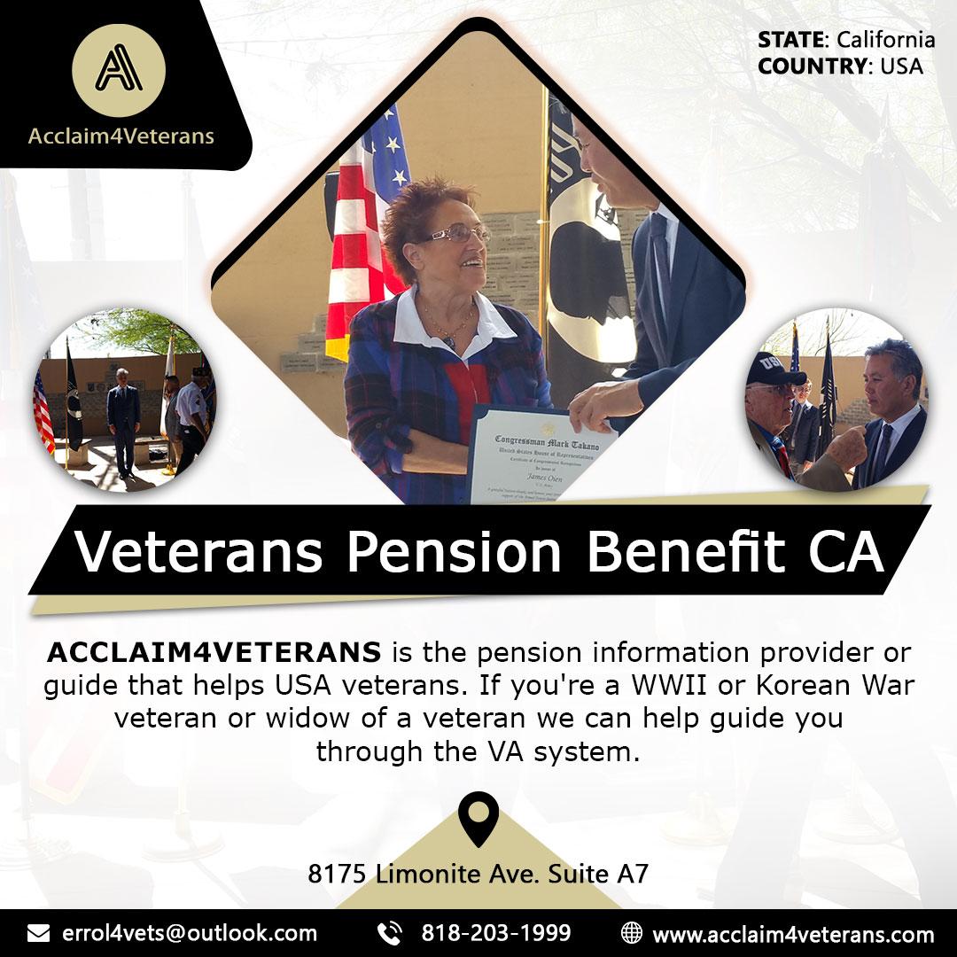 Veterans Pension Benefit CA