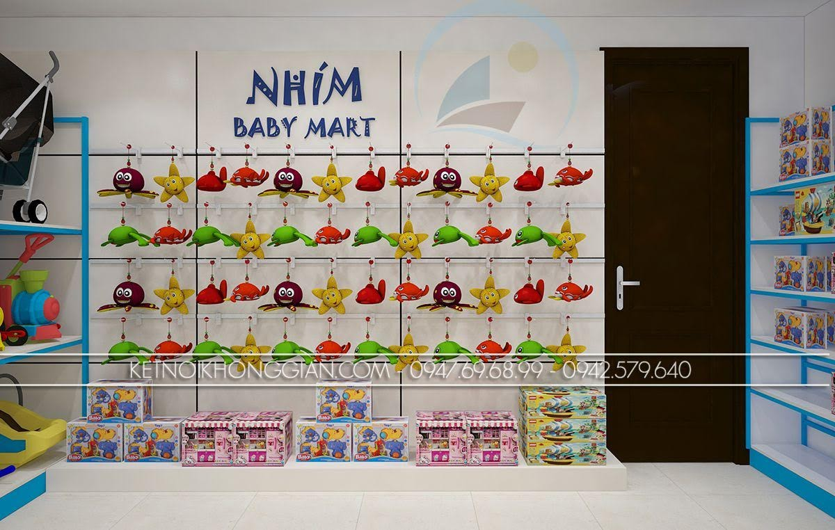 thiết kế siêu thị mẹ và bé tinh tế