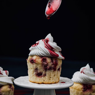 Greek Yogurt Strawberry Cupcakes.