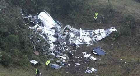 Avião da Chapecoense caiu na Colômbia