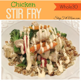 Chicken Stir Fry with Spicy Mayo Dressing