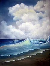 """Photo: 1407 - 1 Windy Waves. Oil on canvas. Frame: no. Price: 18"""" x 24"""" $229.00"""