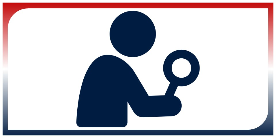 icon of a student with a magnifying glass