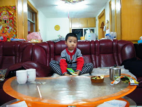 Photo: baby son in his National Day vacation visit to his mom's relatives.