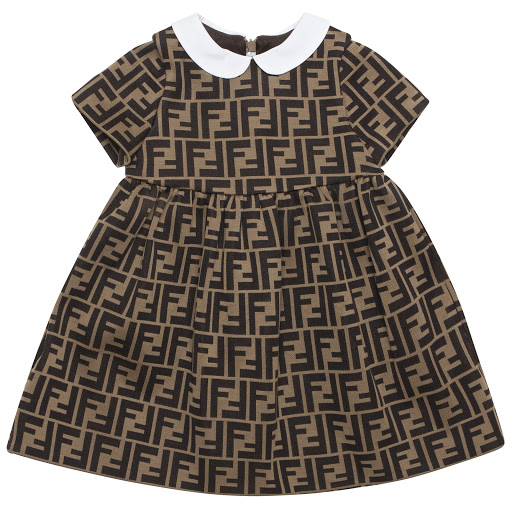 Primary image of Fendi Baby 'FF' Logo Dress