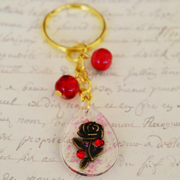 Beauty And The Beast Handmade Keychain
