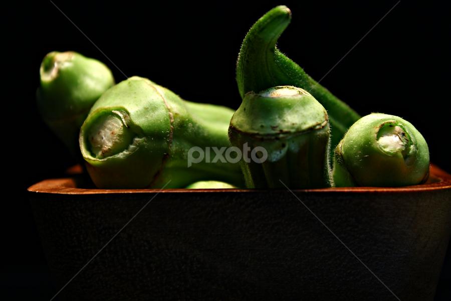 by Dipali S - Food & Drink Fruits & Vegetables ( okra, green, vegetable, ladyfinger )