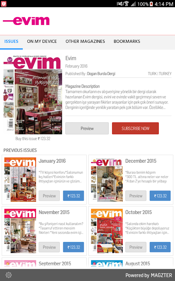 Evim Dergisi- screenshot
